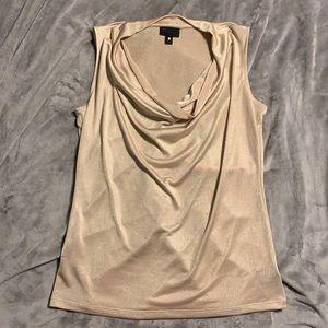 Sleeveless Gold Blouse Size Large